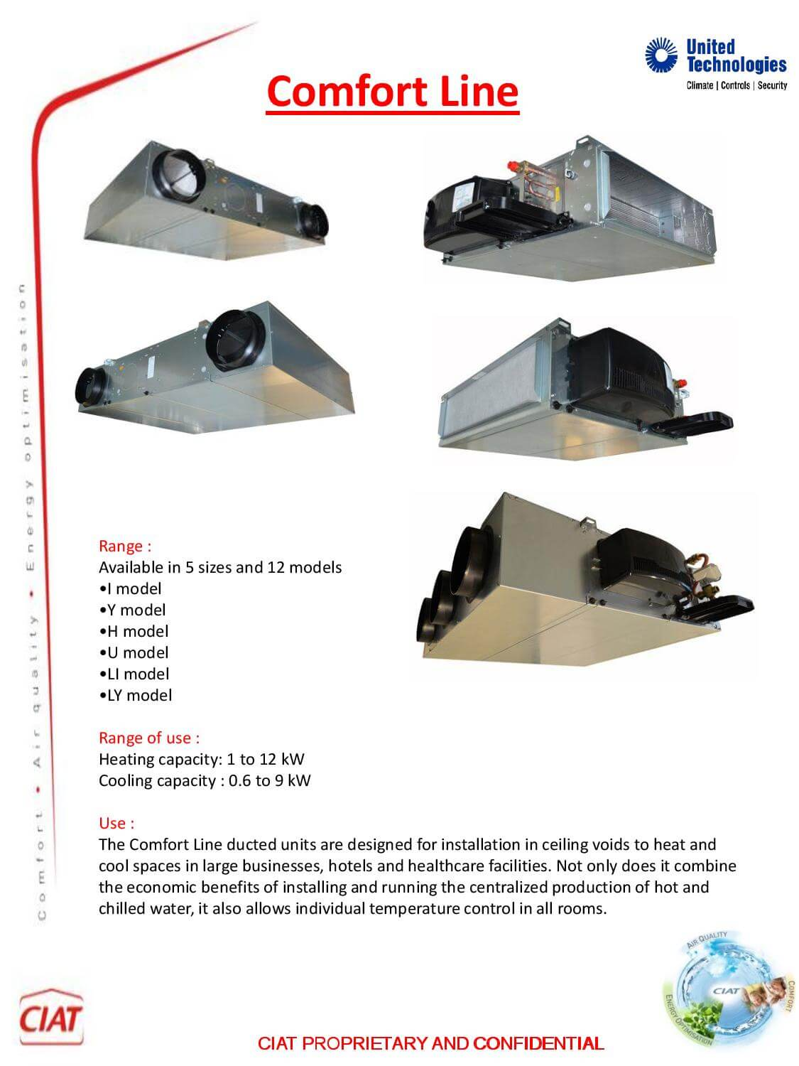 Comfort Line Ciat Air Conditioning And Heating