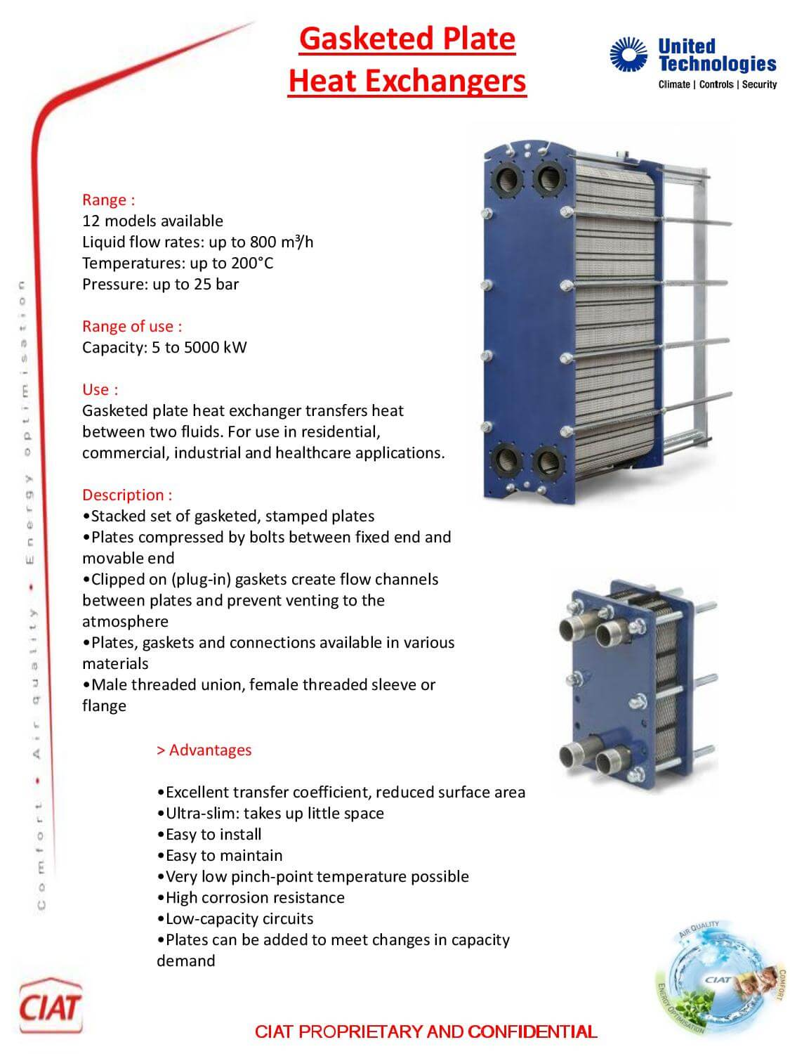Heat Exchangers Itex Ciat Air Conditioning And Heating