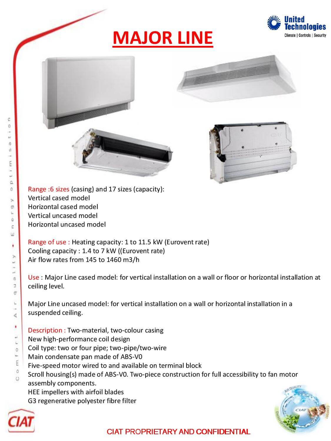 Major Line Ciat Air Conditioning And Heating