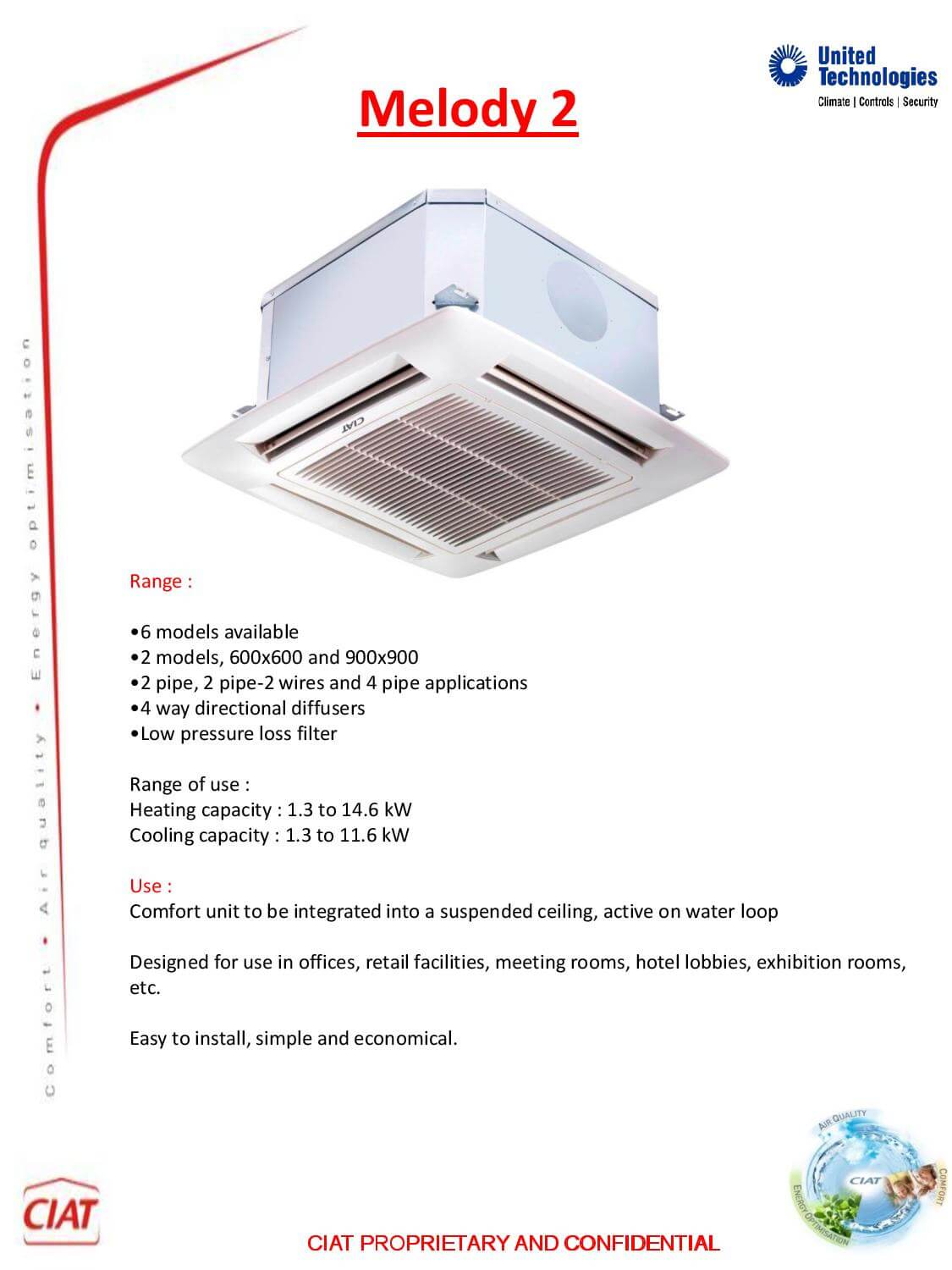 Melody 2 Ciat Air Conditioning And Heating