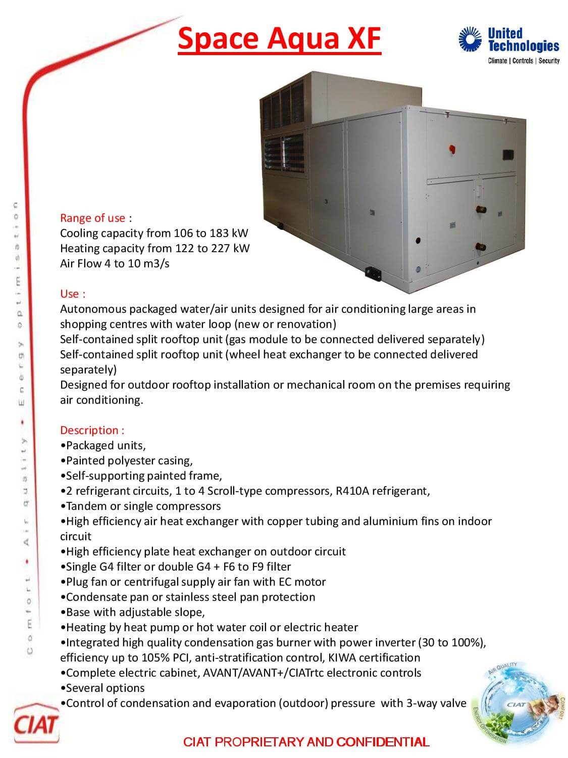 Space Aqua Xf Ciat Air Conditioning And Heating