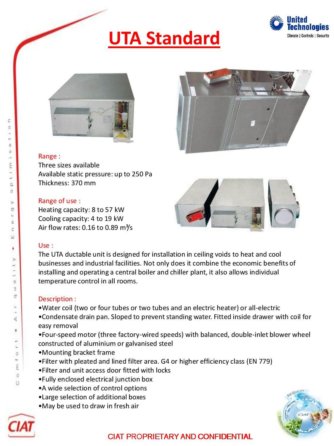 Uta Standard Ducted Ciat Air Conditioning And Heating