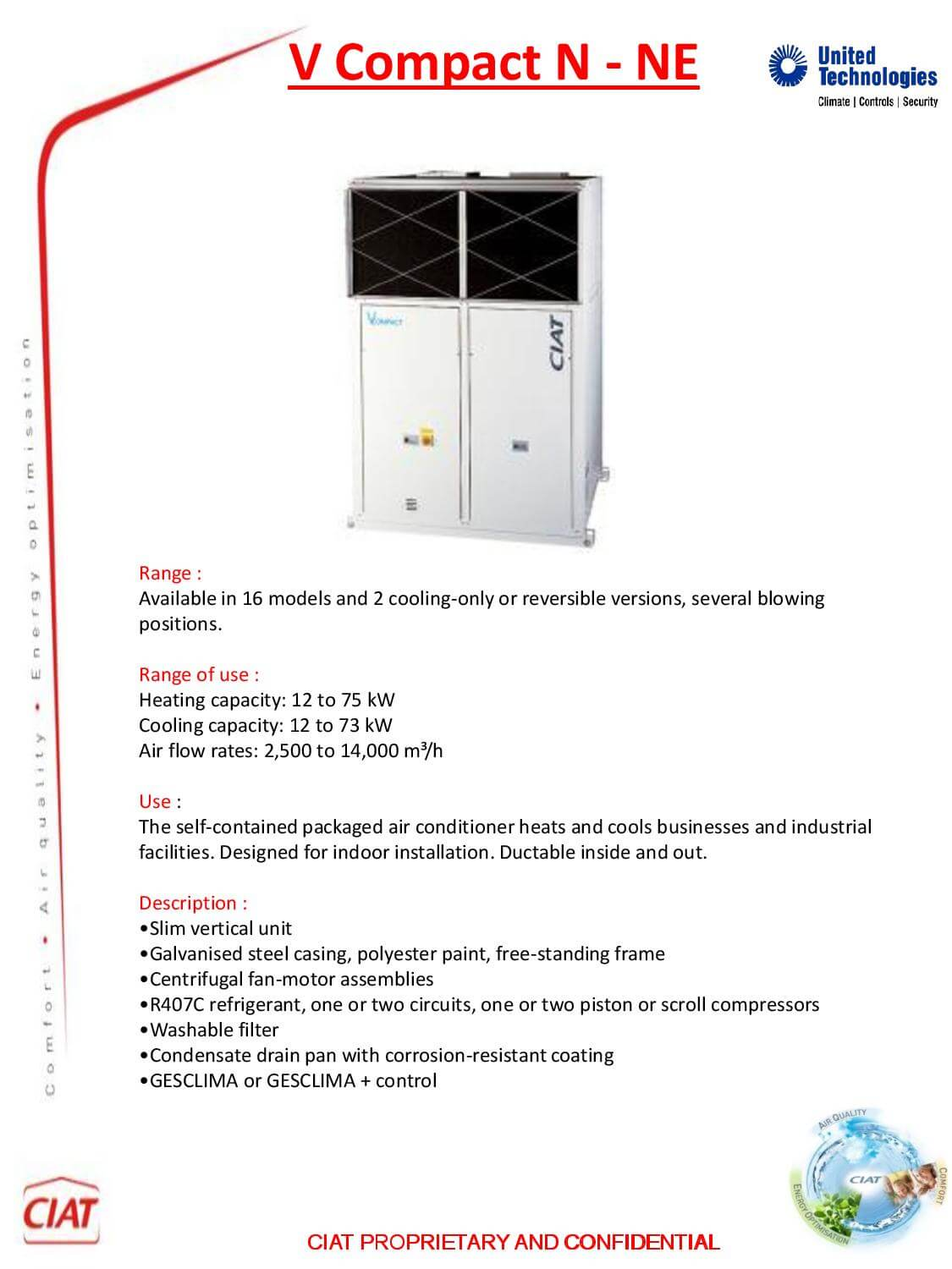 V Compact Ciat Air Conditioning And Heating