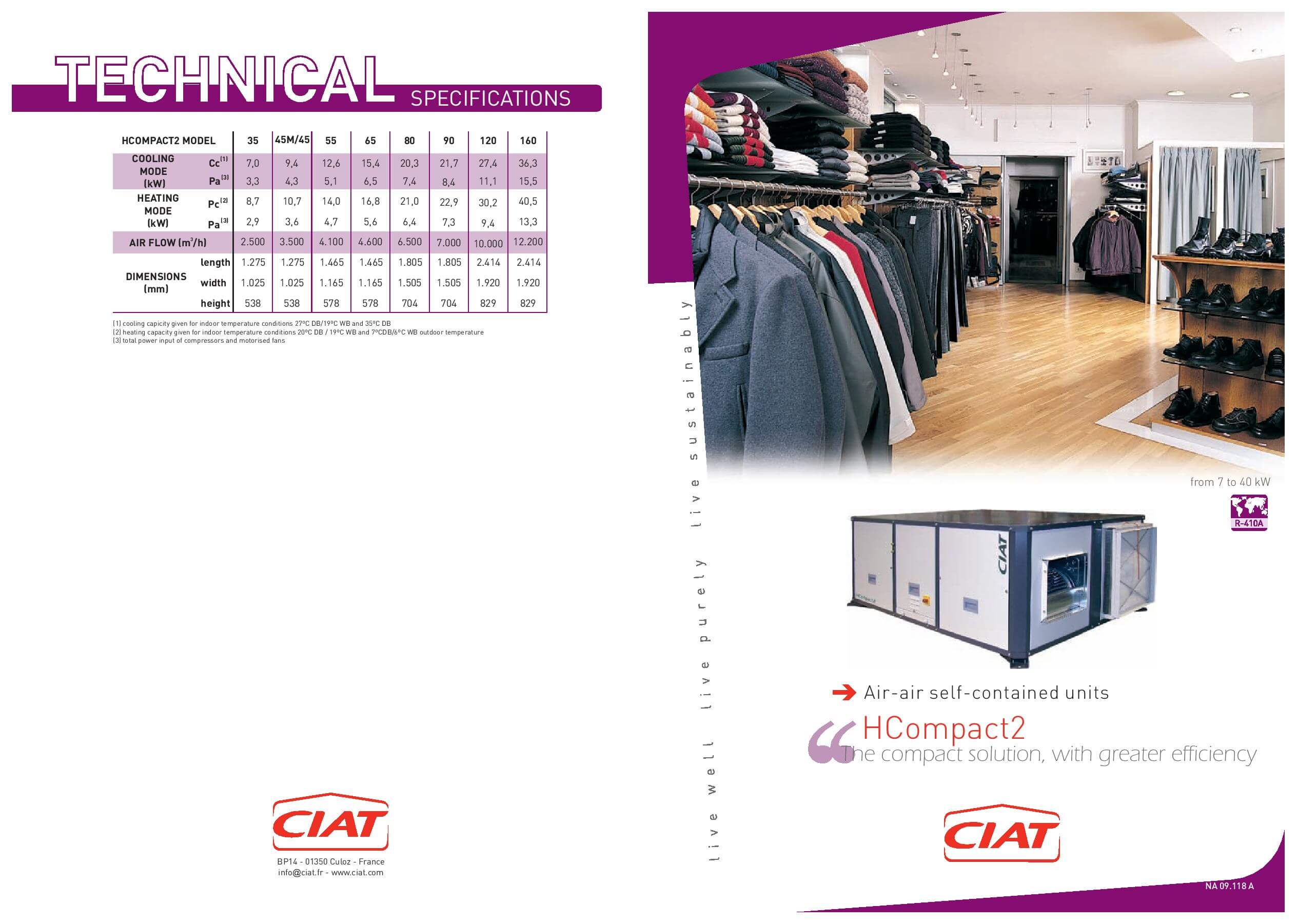 H Compact Ciat Air Conditioning And Heating