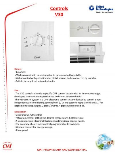 V30 Ciat Air Conditioning And Heating