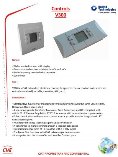 V300 Ciat Air Conditioning And Heating