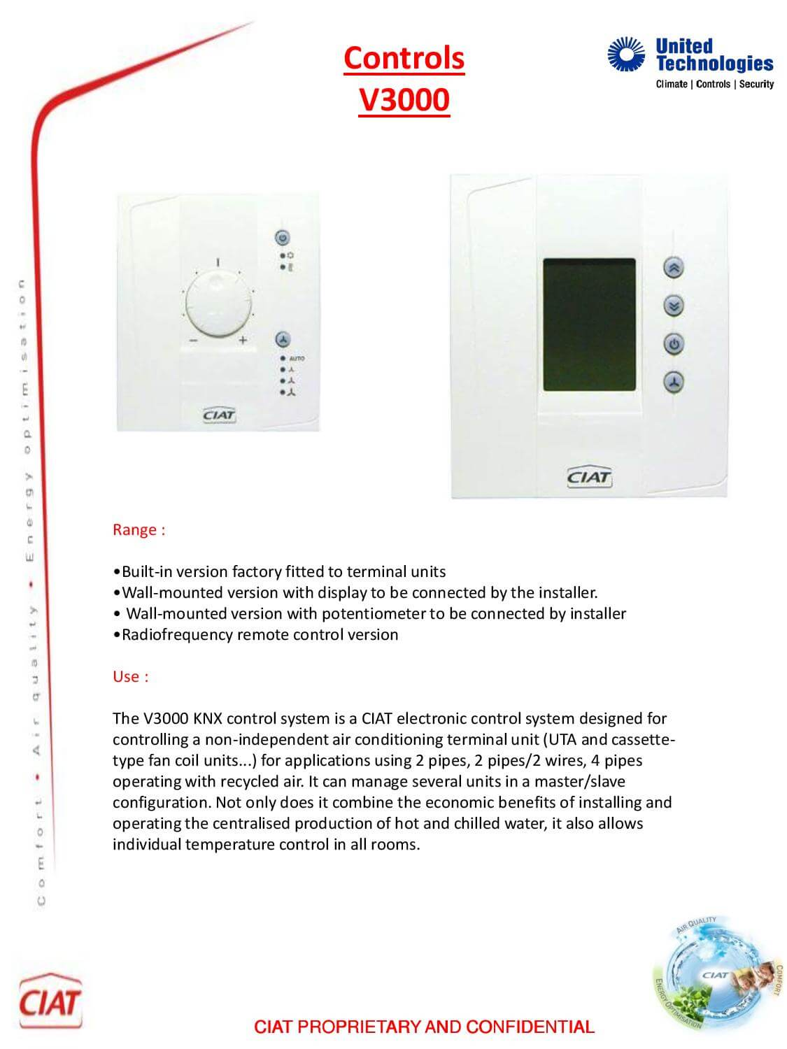 V3000 Ciat Air Conditioning And Heating