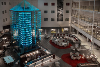 The 500-bed hotel features a Wine Tower in its central atrium bar, now benefitting from outstanding indoor comfort conditions, thanks to CIAT UK